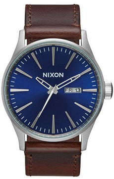 Sentry Leather Blue Brown 42 mm