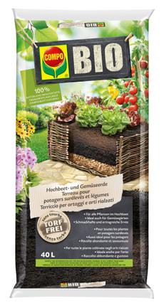 BIO Hochbeet- und Gemüseerde, 40 L