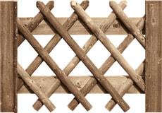 Portillon pour clôture croissées