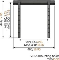 "Vogel's Wall 1205B TV Halterung 26""-55"""