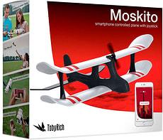 TobyRich Moskito Avion contrôlé par Smartphone avec joystick Avion contrôlé par Smartphone avec Joystick et application mobile intuitive pour pilotage intérieur et extérieure Autonomie de vol 12 minutes