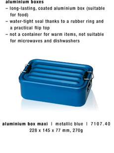 ALU BOX MAXI METALLIC BLUE