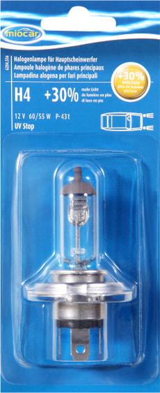 Ampoule halogène H4 +30%