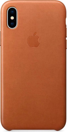 Leather Case iPhone X Saddle Brown