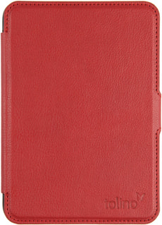 eReader Cover Slim Cuir rouge
