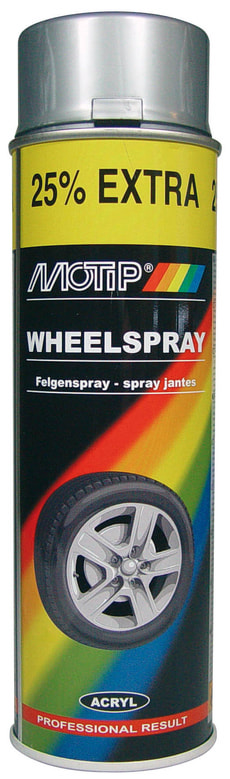 Extra Wheelspray silber