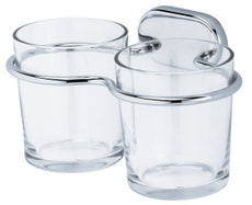 Doppelglashalter Lima, chrom
