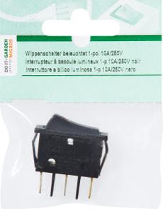 Interrupteur à bascule lumineux 1-p