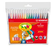 Fasermaler STABILO® power, 18 Stifte