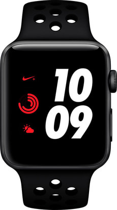 Watch Nike+ Series 3 GPS 42mm Space Grey Aluminium Case Anthracite Black Nike Sport Band