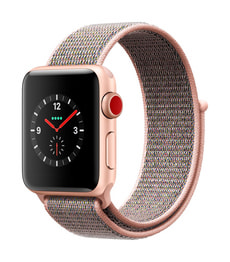 Watch Series 3 GPS/LTE 38mm gold/pinksand loop