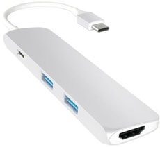 USB-C Slim Aluminium Multiport Adapter