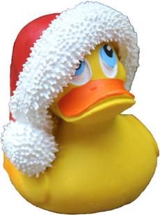 Canard de bain Santa Claus