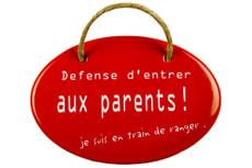 Emailschild Défense d'entrer aux parents!