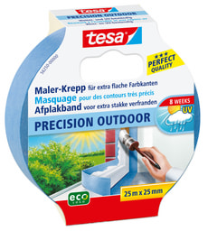 Maler-Krepp PRECISION OUTDOOR ecoLogo® 25m:25mm