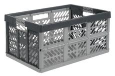 box pliable gris/argent