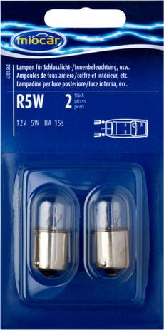 Ampoulen R5W, feu d'arrière/intérieur