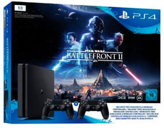Sony PS4 Slim 1TB inkl. StarWars+2Dualshock Controller
