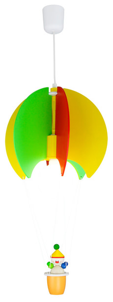 Kinderhängeleuchte Ballon mit Kasper
