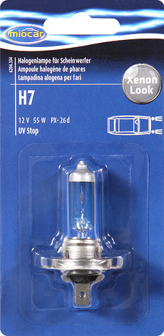Halogenlampe H7 +30%, XenonBlueView