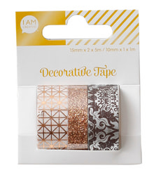 Shiny Washi-Tape Set II, 3 Stk.