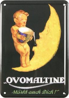 Werbe-Blechschild Ovomaltine