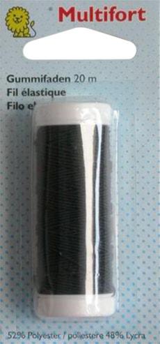 Fil élastique noir 20m