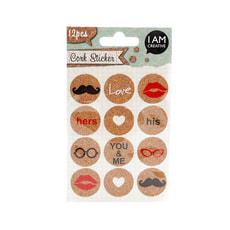 Kork Sticker, lustige Symbole