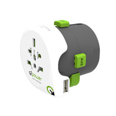 "Q2Power Weltreiseadapter ""Qdapter 360"" USB"