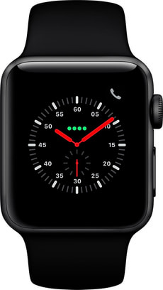 Watch Series 3 GPS 42mm Space Grey Aluminium Case Black Sport Band