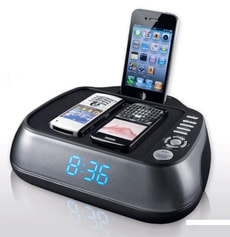 D.08.002 Radio réveil avec d'acceuil ipod (30pin)