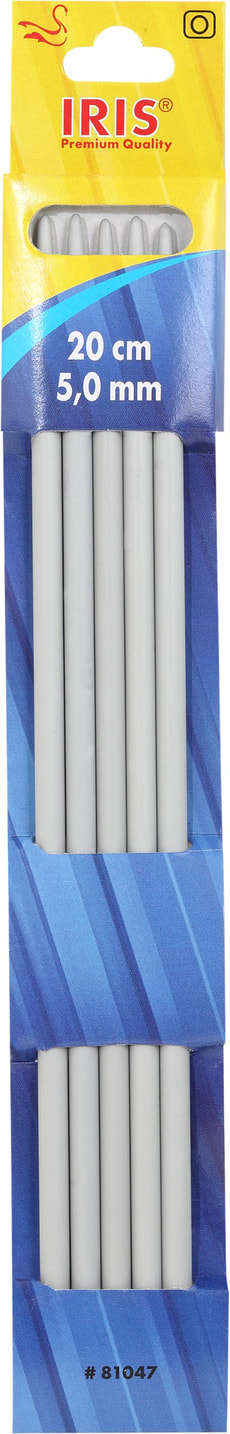 Aiguilles à tricoter 20cm - 5.0mm