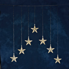 LED Lichtervorhang mit 7 Sternen