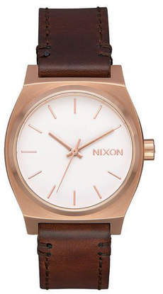 Medium Time Teller Leather Rose Brown 31 mm