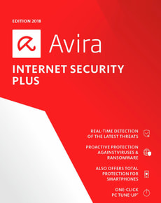 Avira Internet Security Plus v2018 PC (D) - 4 Lizenzen / 1 Jahr