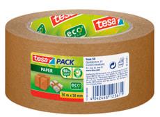 tesapack® paper ecoLogo® 50m:50mm brun