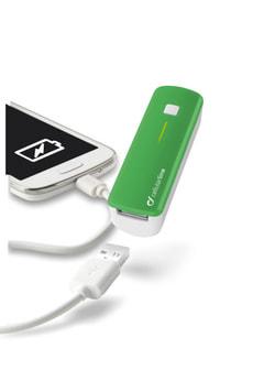 Portables USB Ladegerät grün