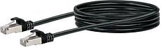 Cable de réseau S/FTP Cat. 6 1m noir