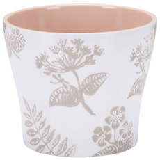 Cache-pot Taupe Blossom