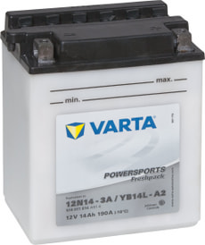 Batterie moto 12N14-3A / YB14L-A2 12V 14Ah 140A