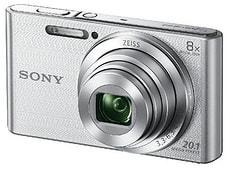 Cybershot DSC W830 Kompaktkamera silber