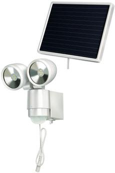Solar LED-Spot SOL 2x4 bianco <IP44> 8x 0,5W - con segnalatore di movimento