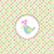 Atelier Serviettes, 20 pcs. 25x25 cm, Sweet Bird