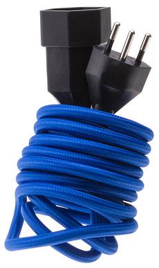 Textil-Verlängerungskabel blau