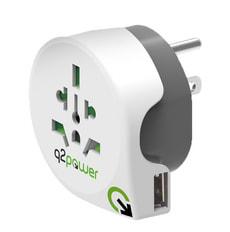 Q2Power Adaptateur du monde à USA avec USB