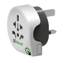 Q2Power Adaptateur du monde à Grande-Bretagne