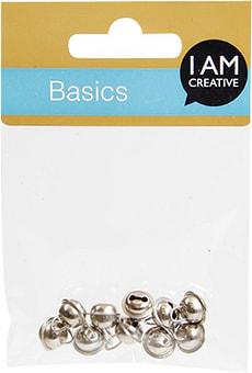 Clochettes métal argent 9mm 10 p.