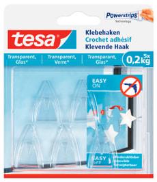 Klebehaken transparent, Glas, 0.2 kg