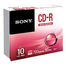 CD-R Audio 80 Min. 10er-Pack