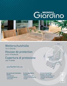 Schutzhülle für 4 Sessel